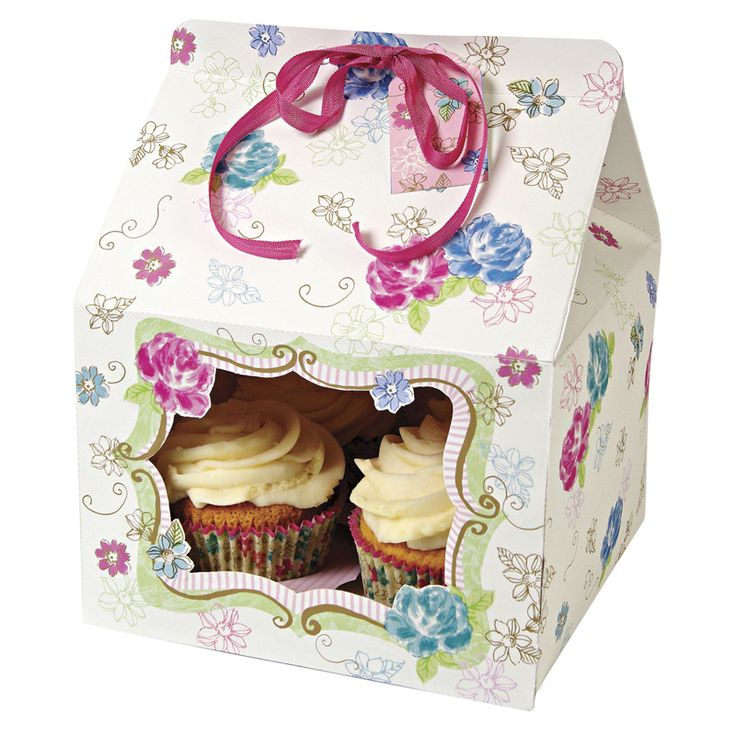 Love in the Afternoon Large Cupcake Box