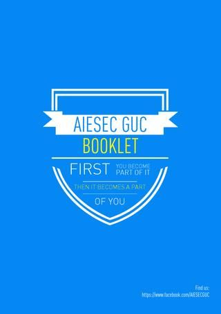 WELCOME TO AIESEC in GUC  Opportunities booklet