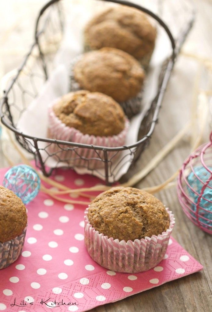 Muffins à la pomme, à la noisette et à l'avoine à IG Bas (vegan) / Muffins with apple, hazelnut and oat
