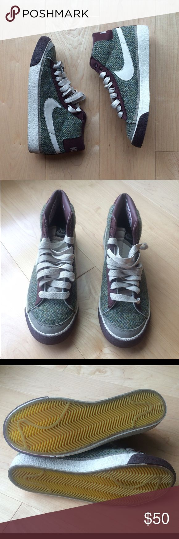 Harris Tweed Nike Hi Tops Very Good condition. Worn a handful of times! Nike Shoes Athletic Shoes