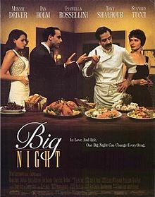 Big Night is a 1996 motion picture drama directed by Campbell Scott and Stanley Tucci.