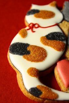 Calico cat decorated cookies - Farina - Fな生活