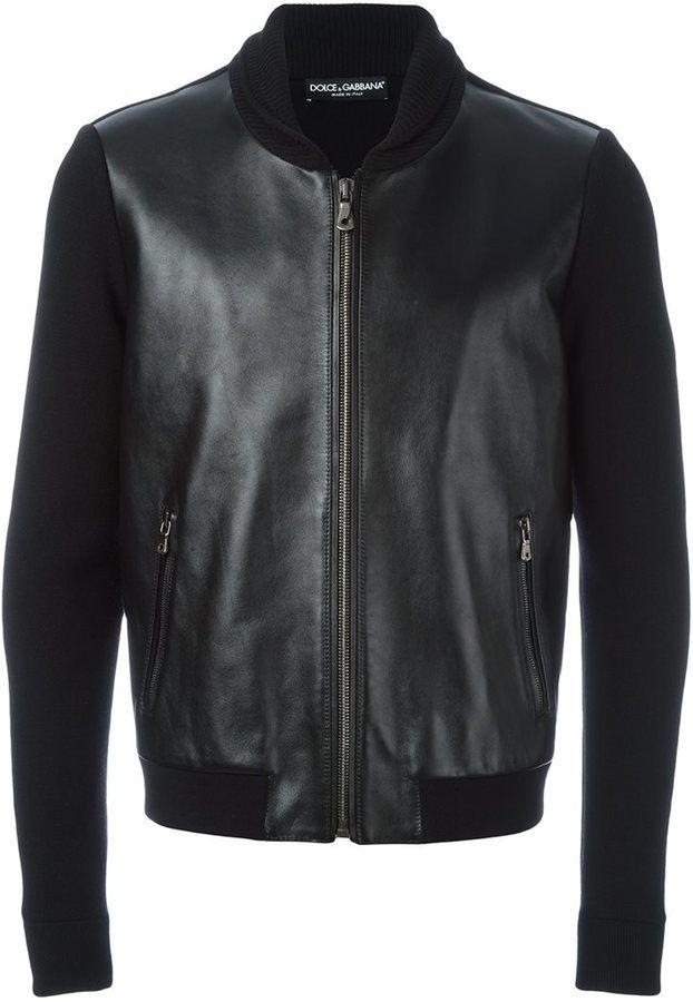 Dolce & Gabbana leather panel jacket