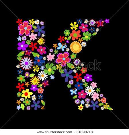 Vector flower font by Norbert-Zsolt Suto - Stock Photo