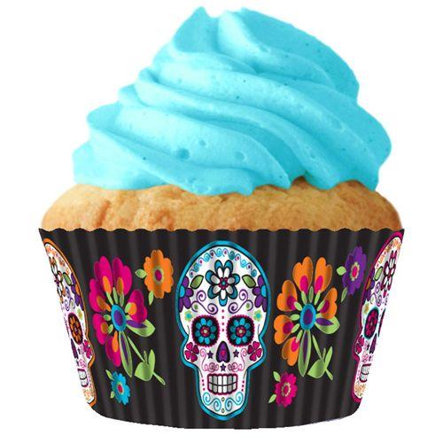 Sugar Skull Cupcake Liners