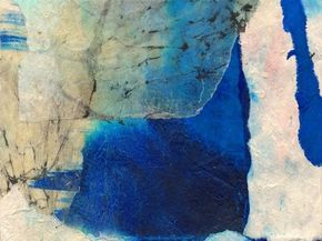 Michelle Oppenheimer LA collage,batik and watercolour