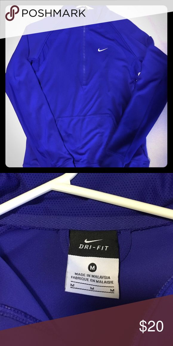 Women's Nike Dri-fit Zip up Cobalt Blue Women's Nike Zip up. Size Medium. In great condition. Only worn once. Nike Tops Sweatshirts & Hoodies