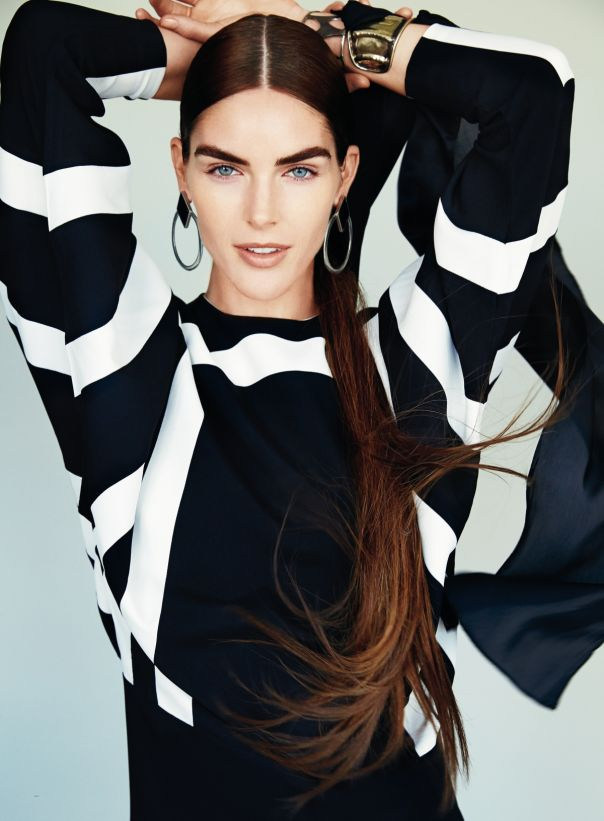 Hilary Rhoda by Patrick Demarchelier gor Glamour December 2014 1