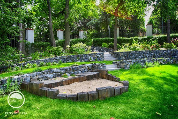 #landscape #architecture #garden #stairs #rockery #sandpit #lawn