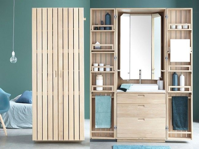 Una buena idea, un baño compacto metido en un armario
