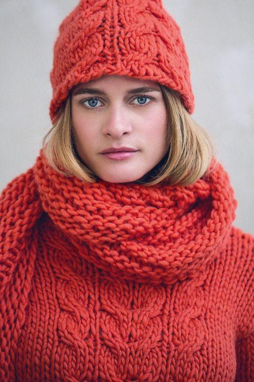 Kostenlose Strickanleitung: Mütze, Schal und Pullover - Initiative Handarbeit