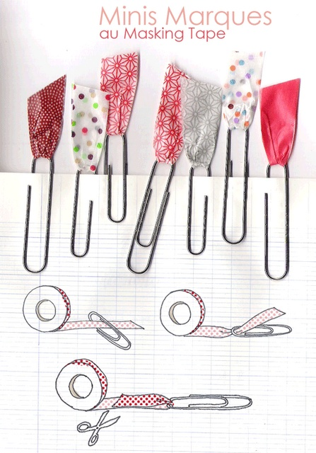 clips con masking tape