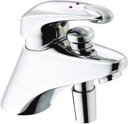 1 hole bath shower mixer faucet with shower kit (chrome). - kbbusa.com