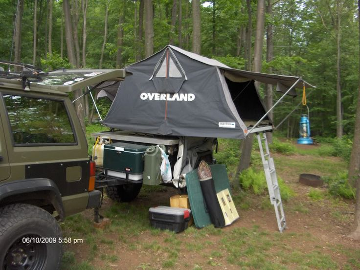 expedition c&ing/jeep trailers | Roof top tent on my 98 - Jeep Cherokee Forum | Adventure Trailers/ Overland/C&ing Conversions | Pinterest & expedition camping/jeep trailers | Roof top tent on my 98 - Jeep ...