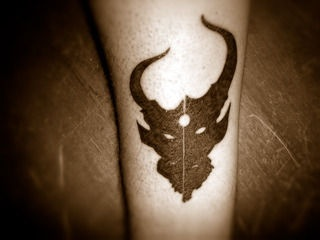 Demon Hunter tattoo. My brother has this =D