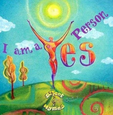"""""""I am a yes person"""" quote via www.Facebook.com/SilentHymns"""