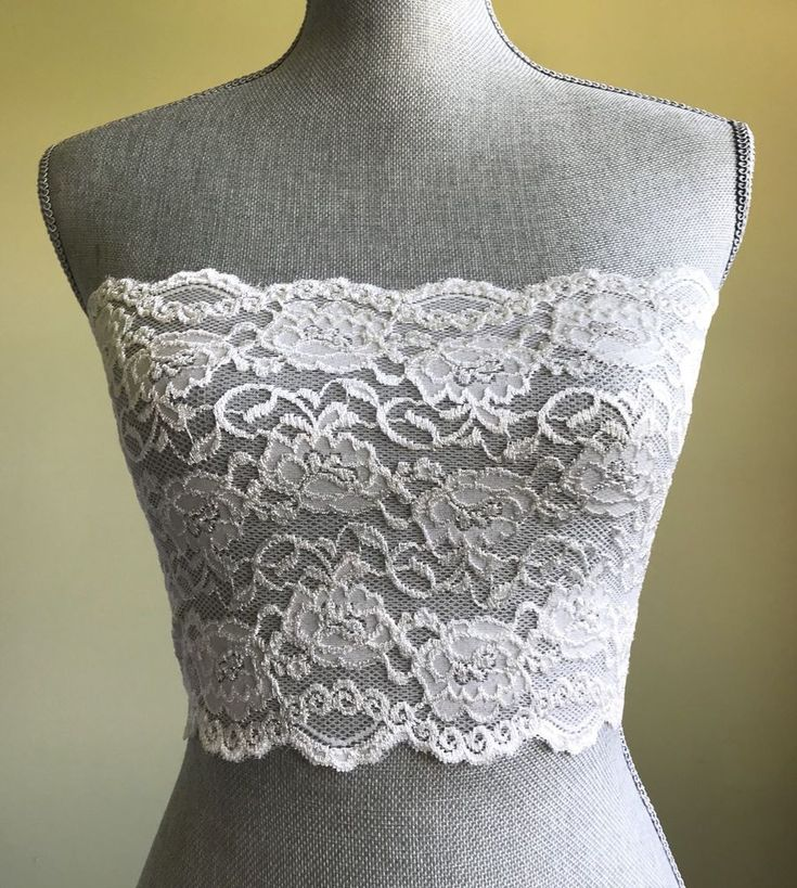 Ally Rose Toppers Strapless White Lace Lingerie Cami Camisole Bandeau Size L XL  | eBay