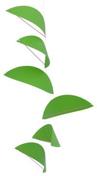 Kites Mobile in Green contemporary-baby-mobiles