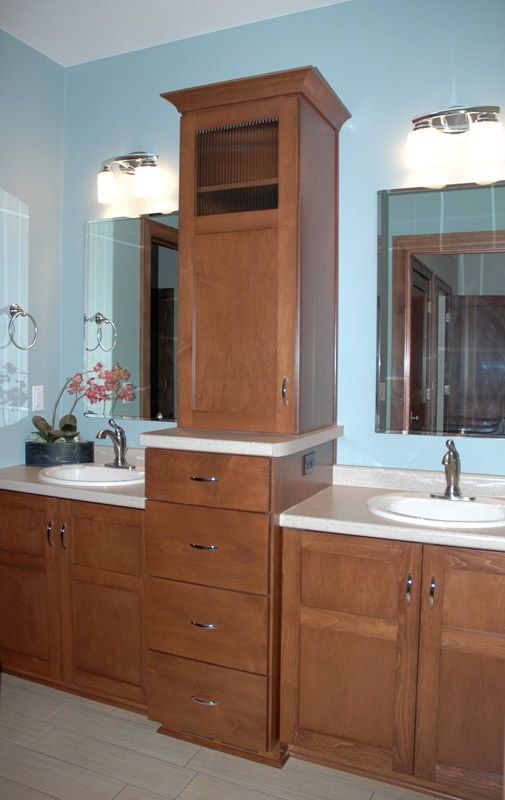 these custom bathroom cabinets provide ultimate storage options see more in the vanu0027s design gallery