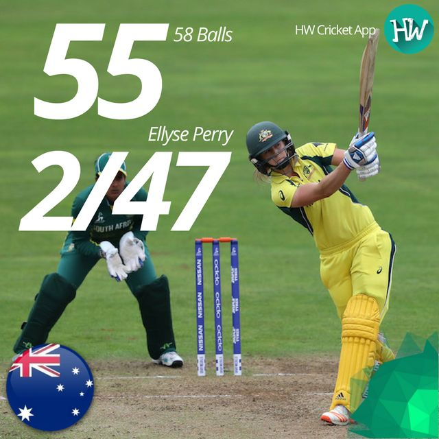 Ellyse Perry is on some other level! She is in the form of her life! #WWC17 #AUSvSA #AUS #SA #cricket