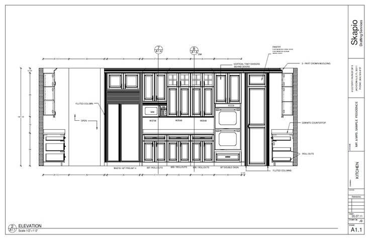 Kitchen Plan Elevation : Sample kitchen elevation rendering pinterest kitchens