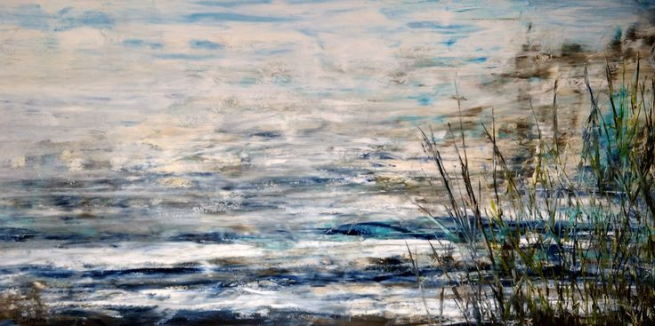 Waterfront_3 48x96 is an original painting by Hanna MacNaughtan. copyright 2017