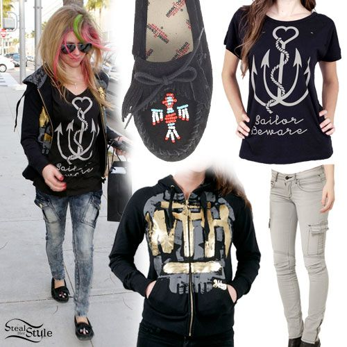 Avril Lavigne Moccasin Outfit Express Who You Are