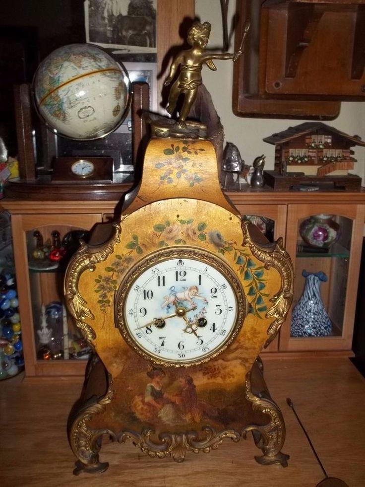 Rare Antique Mantle Clock Marked Tiffany & Co and JED bronze clock Cherub Bronze #TiffanyCo