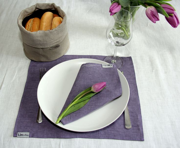 Linen napkins! Linen napkins on a table make it look naturally elegant. Napkins during meal time create a special, cozy atmosphere.