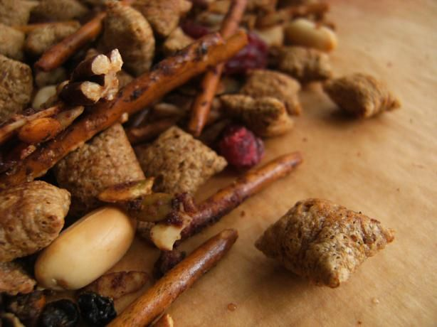 Shreddies Gingerbread Snack Mix. I'm pretty sure this is the recipe I used last year and we really loved it! It's a nice change from all the super-sweet sweets.