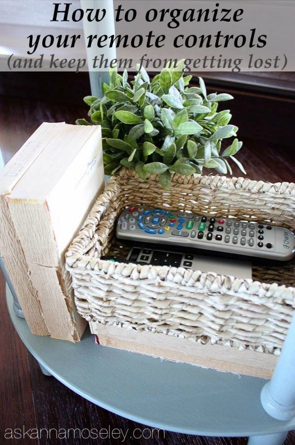 How To Organize Your Remote Controls And Keep Them From Getting Lost   Ask  Anna
