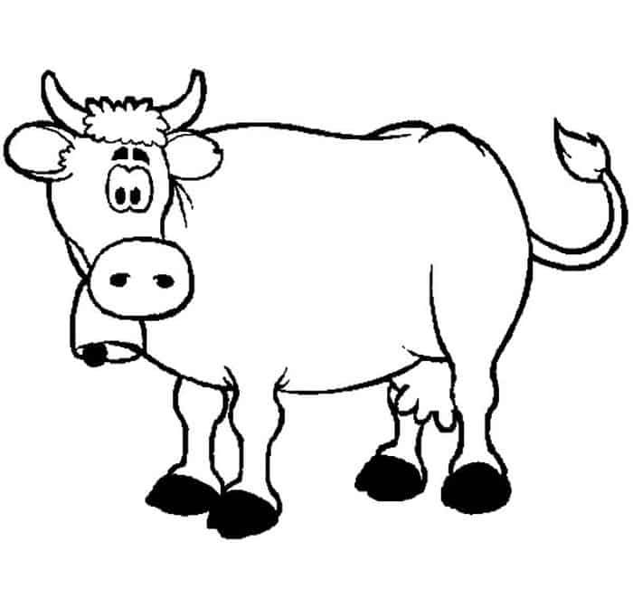 Cow Coloring Pages In 2020 Cow Coloring Pages Animal Coloring
