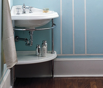 Corner Shelf (With images)   Corner sink, Pedestal sink ...