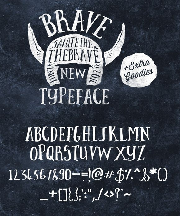 Brave New Font Pack & Graphic Extras by Nicky Laatz on @creativemarket