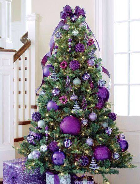 Love this purple Christmas Tree