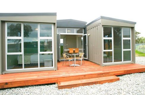 3 box design This was originally built as our show home. Council approved, fully compliant and thoroughly tested by Chch earthquakes. It proved to be a very popular design that now resides in Woodend. Perfect container solution for a Granny flat or Bach.