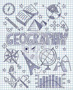 Hand drawn Geography set