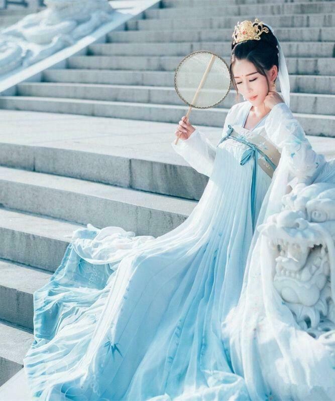 Traditional Ancient Chinese Tang Han Dynasty Long Skirt Dress Cosplay Princess