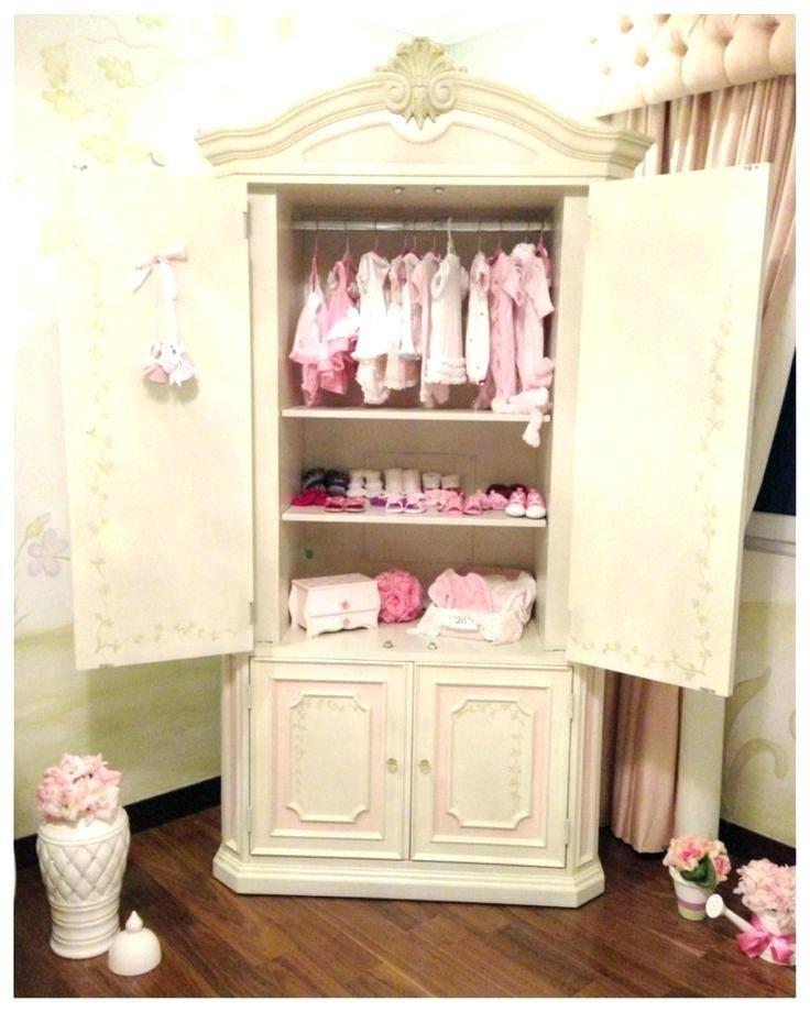 Armoires Baby Armoire Wardrobe Shabby Chic Dresser Nursery ...