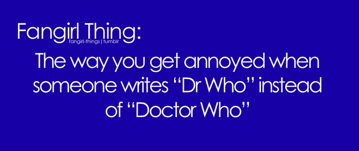 Doctor Who. Doctor.