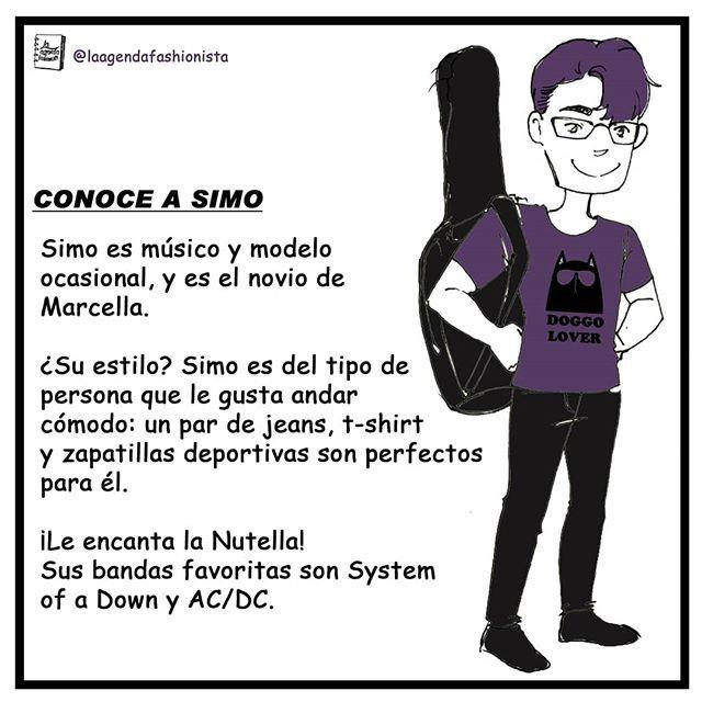 Hi!~ Esta es la semana de las prrsentaciones, y hoy le toca a Simo! Lo han visto en algunos comics con Marcella, se preguntaban como se llamaba? 😅 ¡Conoce a Simo! (Algún día les haré una ilustración mas realista, lo prometo 😋) #laagendafashionista #Simo #Musico #Modelo #Guitarra #comic #Doodle #Moda #Doggo #Dog #Historieta #Fashion #Dibujo #Ilustracion #ilikeyou #boyfriend #acdc #nutella #systemofadown