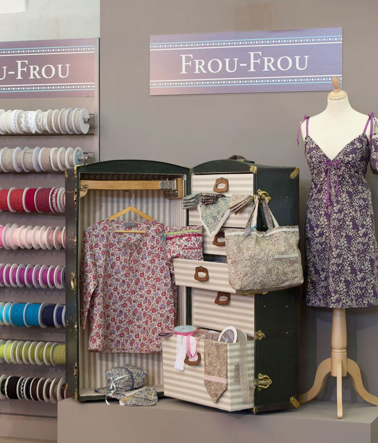 Patrons couture spaghettis biais boutons frou frou for Couture mercerie