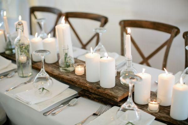 Pillar Candle Centerpiece | photography by http://www.kristynhogan.com