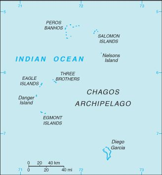 Map of the British Indian Ocean Territory since 1976