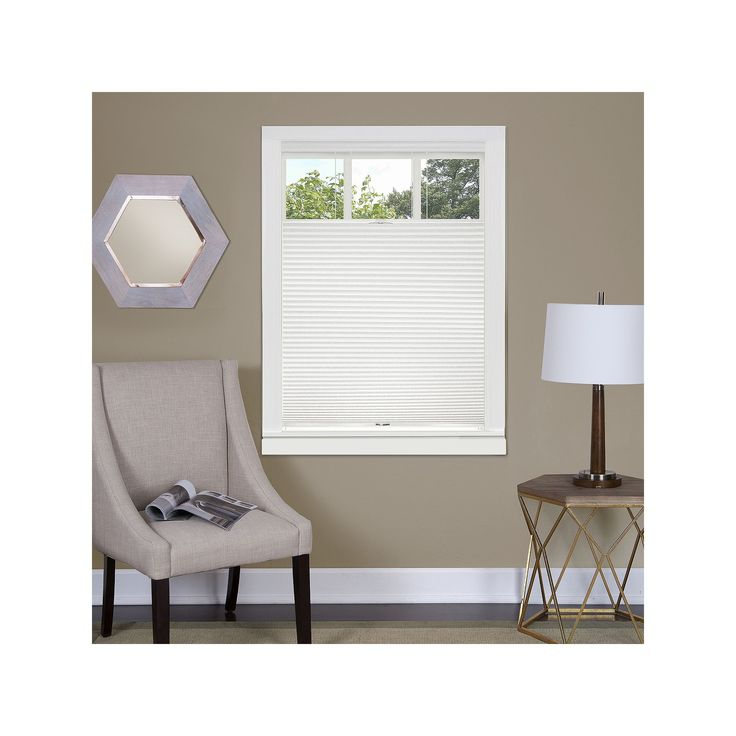 Achim Top Down Bottom Up Cordless Honeycomb Cellular Shade, White