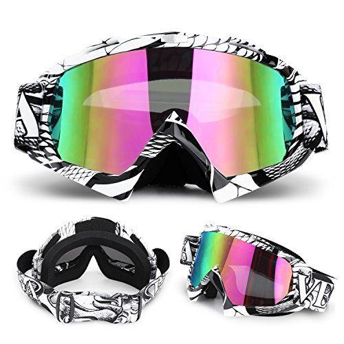 YISSVIC Lunette de Ski Masque de Ski Snowboard Lunettes de Protection pour Sport Anti-UV Anti-brouillard Anti-Soleil Adapté Extérieur…