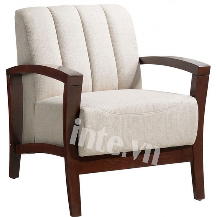 modway enamor fabric armchair in walnut taupe