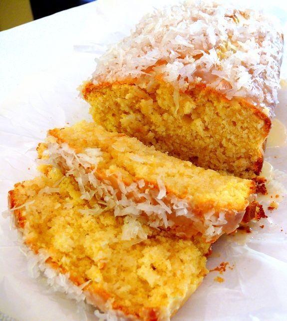 Coconut-Lemon Loaf with Coconut-Lemon GlazeLemon Coconut Cake, Coconutlemon, Coconut Lemon Loaf, Coconut Bread, Noble Pigs, Sweets Tooth, Lemon Breads, Food Recipe, Coconut Lemon Glaze