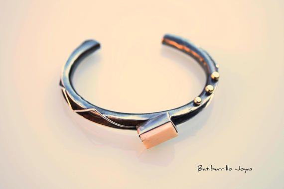 Pulsera plata pulsera hueso pulsera bronce pulsera tubular