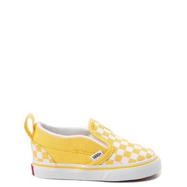 yellow checkered vans youth